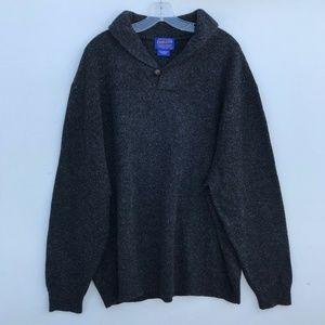 Pendleton Shetland Shawl Collar Wool Sweater #1453